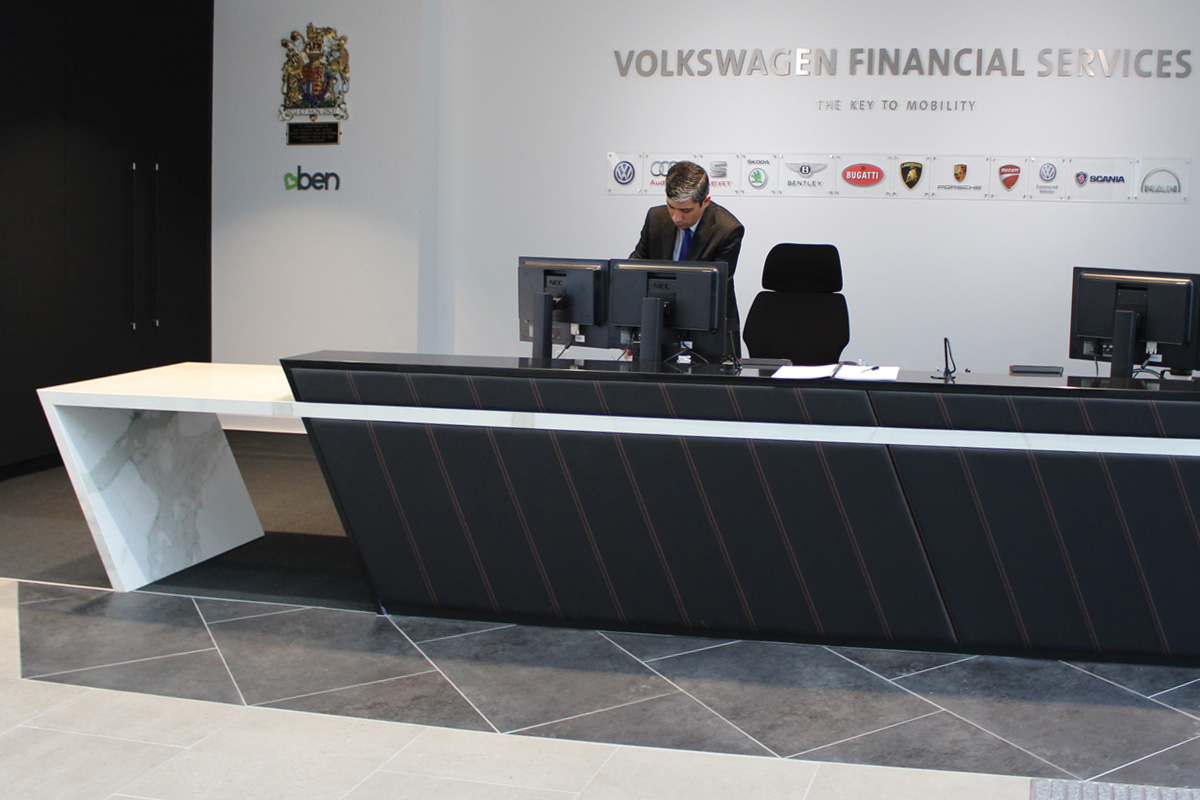 VW Financial Services Reception Counter